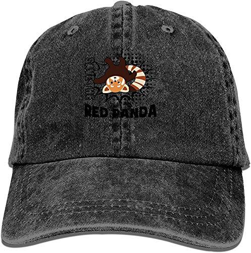 Nigmfgvnr Baseball Caps for Men Women-Save The Red Panda Sports Cap Adjustable Trucker Cowboy Hat