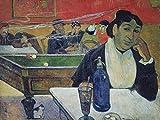 Artland Qualitätsbilder I Bild auf Leinwand Leinwandbilder Wandbilder 60 x 45 cm Menschen Gruppen Familien Malerei Rot B1KB Im Café in Arles