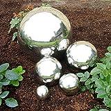 Edelstahlkugel Deko Kugel Rosenkugel Garten (9 cm)