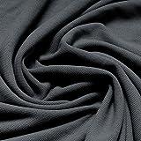 Stoff Baumwolle Piqué Jersey mausgrau Polohemd T-Shirt