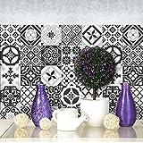 24 (Piezas) Adhesivo para Azulejos 20x20 cm - PS00063 - Ebony and Ivory - Adhesivo...