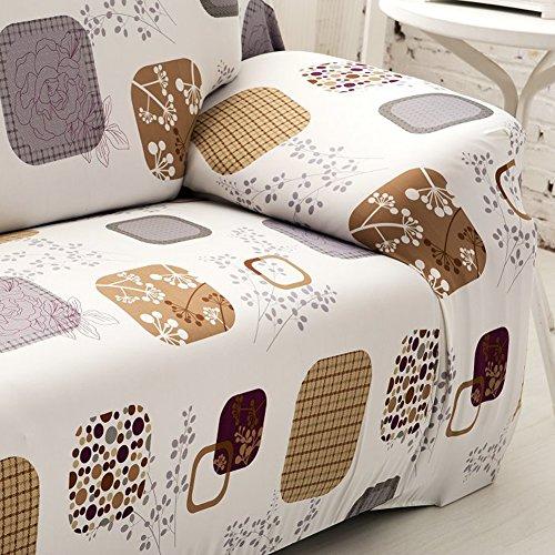 DOMYBEST Housse de Canapé en Tissu Spandex Stretch Imprimé Housse (1# 2 siège)