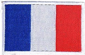 DCCN Écusson Brodé thermocollant Drapeau France/ Drapeau Britannique Ecussons Broderie pour Airsoft Sac à Dos Vêtements