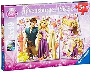 Ravensburger - 09298 - Puzzle Enfant Classique - Princesse Raiponce - 3 x 49 Pièces