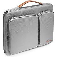 "Tomtoc Funda protectora 360 °para portátil HP Dell Acer Asus Thinkpad Laptops de 15 a 15,6 pulgadas Bolso para Notebooks Ultrabooks Tablets, resistente a derrames 15 ""Laptop Maletín, gris plateado"