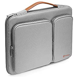 Tomtoc 360° Laptop Schutztasche Für 15 - 15,6 Zoll Hp Dell Acer Asus Thinkpad Laptops Notebooks Ultrabooks Tablette, Grau