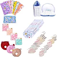 Fareto Baby's Combo of 6 Regular Needs Useable Items In Single Packet (Multicolour, 0-6 Months)