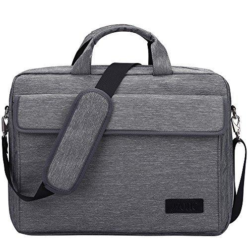 S-ZONE Vintage Laptop Sleeve Aktentasche Messenger Bag für 15,6 Zoll Laptop/Notebook/MacBook/Ultrabook/Chromebook Computer, grau (grau) - S-ZONE D04V850B (Grau-toshiba-laptop)