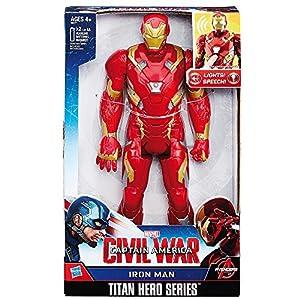 Hasbro Marvel Titan Hero Series Iron Man Electronic Figure 1pieza(s) Oro, Rojo Niño - Figuras de Juguete para niños (Oro, Rojo, 4 año(s), Niño, Dibujos Animados, Acción / Aventura, AA)