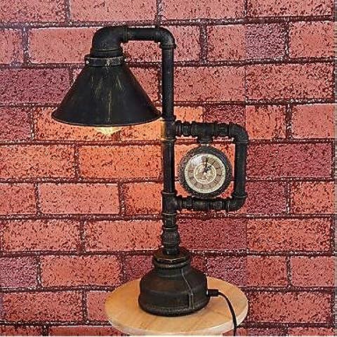 Tubo de hierro industrial retro lámpara (BBB) , blanco cálido-220-240v