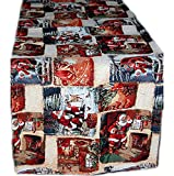 Hossner Tischdecke 50x150 cm Eckig GOBELIN Weihnachten Christmas Santa Läufer