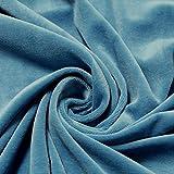 Stoff Baumwolle Polyester Nicki himmelblau Nicky weich blau