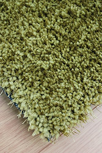 Very Large Modern Thick Shaggy Soft Touch & Feel Plain Soft Green Mix Rug in 160 x 230 cm (5'3'' x 7'7'') Carpet