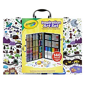 Mulitcolored 5 Styles May Vary Gifts for Kids Art Set 6 7 Crayola Imagination Inspiration Art Case 140Piece Age 4