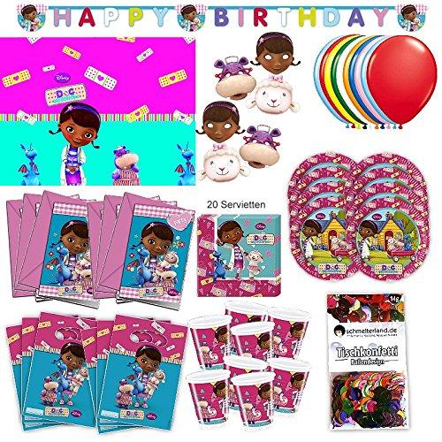 s Party Set XL 73-teilig für 6 Gäste McStuffinsparty Geburtstag Deko Partypaket ()