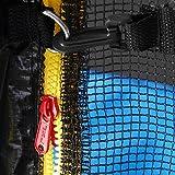 Deuba® Netz Sicherheitsnetz Trampolin ✔ Ø 244 cm ✔ inkl. Karabinerhaken ✔ UV-beständig ✔ Außenbefestigung ✔ optimaler Schutz - Trampolinnetz Trampolinschutz - 5