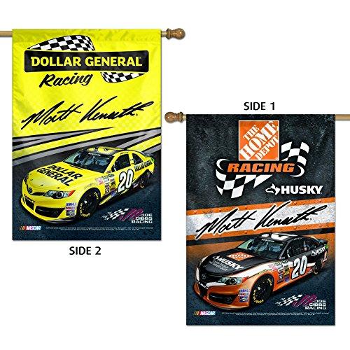 Wincraft Matt Kenseth oficial NASCAR 28pulgadas X 40pulgadas Banner a doble cara bandera