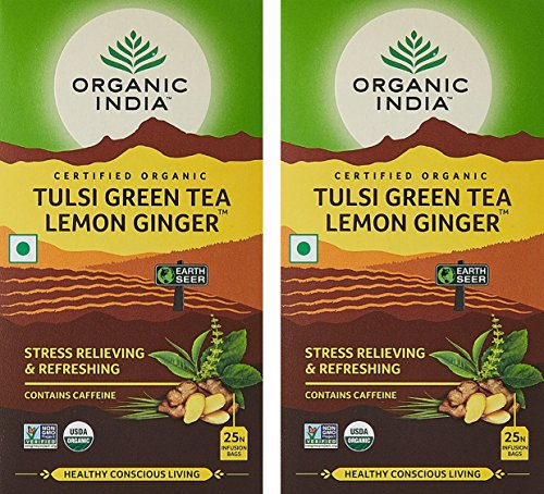 Organic-India-Lemon-Ginger-Tulsi-Green-Tea-25-Tea-Bags-Pack-of-2