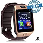 Padraig DZ09 with Camera,Touch Screen, Bluetooth, Support SIM Card, SD Card Smartwatch, (Black, Rose gold)