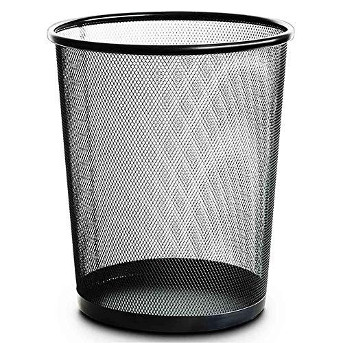 Runder Beh?lter f¨¹r Mesh Bin, Leichtgewicht und Sturdy Circular Mesh Waste Bin, Metal Black -