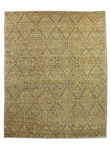 Pak Persian Rugs Handgeknüpfter Gabbeh Teppich, Dark Champagner/Sand, Wolle, Medium, 244 X 293 cm -