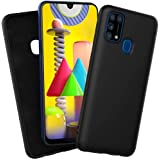 ROCK Samsung Galaxy M31 Cover Liquid Silicone Soft TPU Case Ultra Thin Shockproof Bumper Cover (BLACK)