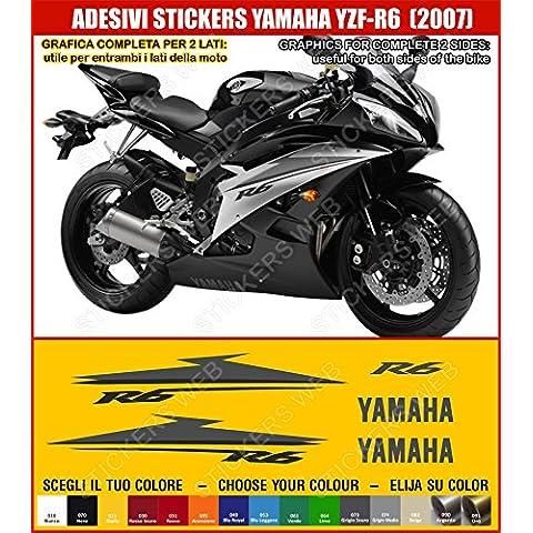 Yamaha YZF R6-Pegatina YZF R6 (2007) sticker kit para modelo 0393 incluye carcasa, color negro