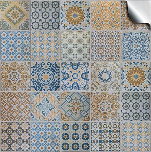 24 Mezcla gris PEGATINAS grises lisas para pegar sobre azulejos cuadrados de 15cm en cocina, baños - resistentes al agua y aceite, Azulejos decorativos adhesivos de TILE STYLE DECALS