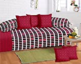 #4: Supreme Home Collective cotton 1 diwan with 5 cushion cover & 2 bloster 8pcs set