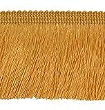 ab 3,0 m Fransen 60 mm breit Farbe Honiggelb / Gold / 3,0 m / 6,0 m / 9,0 m uzw Posamentenborte Bordüre Decoborte Borte Spitzenborte Shabby Chic Posamentenborte Brokat Spitze Antik Jugendstil Barock