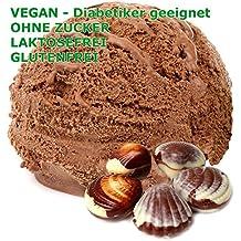 1 kg de polvo de chocolate belga vegetariana de hielo crema sabor - Azúcar - LACTOSA