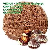 1 Kg Belgische Praline Geschmack Eispulver VEGAN - OHNE ZUCKER - LAKTOSEFREI - GLUTENFREI - FETTARM, auch für Diabetiker Milcheis Softeispulver Speiseeispulver Gino Gelati