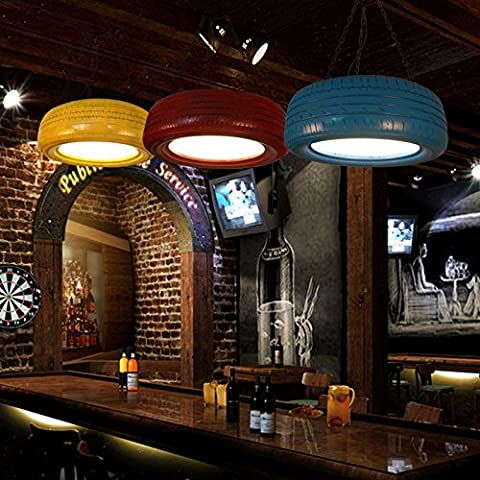 XXTT-lampadario Industriale, vintage, pranzo, soggiorno, camera, gomme, , 60cm wine red soggiorno Illuminazione