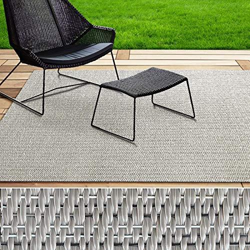 Indoor- & Outdoor-Teppich | Bodenbelag für Flur, Küche, Bad, Terrasse, Balkon | 4 Farben | viele Größen (Hellgrau, 180x300 cm) -