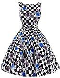 Retro Kleider 50er Vintage Kleid Audrey Hepburn Kleid Damen Festliche Kleider Moderne Kleid M BP02-14