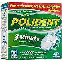 Polident 3-Minute Antibacterial Denture Cleanser, 40 Ct. Each (2-Pack) by Polident preisvergleich bei billige-tabletten.eu