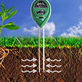 Hemore 3en 1testeur de pH acidité l'humidité Mètre lumière Plante Idéale pour Le Jardin Ferme pelouse Intérieur Extérieur (sans Batterie Nécessaire)