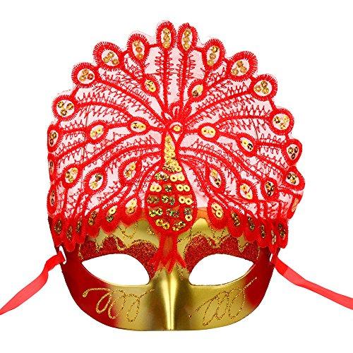 een-Maskerade-reizvolle Dame gemalte Spitze-Schablonen-Frau (C) (Lustige Maskerade-masken)