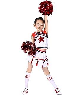 Accessoire pour Encourager Les Equipes Les Matchs Fun KIT Kit de Pom-Pom Girl avec Capuchon de Goujon Elastique PE Le Public etc Les Joueurs Dilwe Pom-Pom Girl