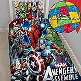 Marvel Avengers Assemble Single Panel Duvet Cover by Disney