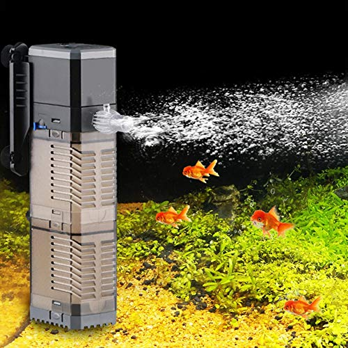Aquarium Filter Innen pumpe Aquarium Filter Super 4 In 1 Aquarium Tauchluft Sauerstoff Interne Pumpe for Aquarium 7 Watt 8 Watt 20 Watt 25 Watt (Color : CHG-1502)