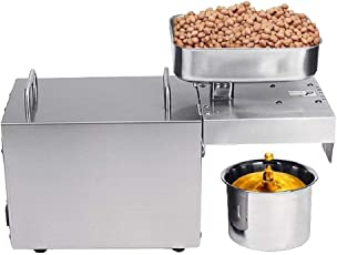 SYGA Oil Press Machine Stainless Steel Oil Extractor Machine Commercial Extractor Multifunctional for Peanut Nuts Seed