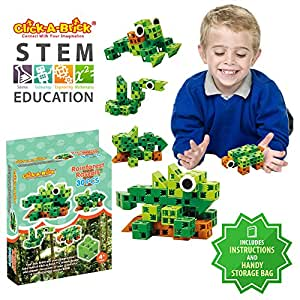 Click-A-Brick Rainforest Rascals 30pc Building Blocks Set ...