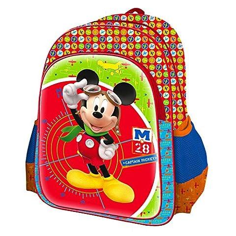 Sac à dos 3D en relief Mickey 40cm - Maternelle et Primaire
