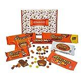 Reeses - Sweet-Box - Geschenkkorb | 8 verschiedene amerikanische Süßigkeiten | Peanut Butter Cups in Vollmilch und weißer Schokolade | USA Reese Sticks, Nut Bar, Pieces, Big Cup usw.