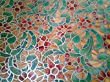 GLASS FILM WALA FROSTED STAINED GLASS ENGLISH COLOUR ABSTRACT FLORAL (45cmX200cm)