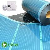 Mi-Heat Infrarotheizung Heizfolie 130 Watt/m² Thermostat SAS816 Set Elektroheizung elektrische Wohnwagen Fussbodenheizung Heizelement Folienheizung Heating Film Heating Element