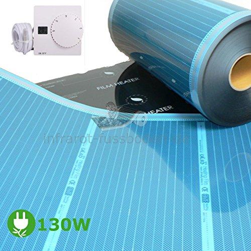 Wohnwagen Fußbodenheizung Heizfolie 130 Watt/m² Thermostat SAS816 Infrarot Folie Wohnmobil Heizung Set
