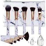 Make-up Borstels HEYMKGO Professionele Marmeren Make-up Borstel Set, Zachte en Geurvrije Natuurlijke Synthetische Borstels, 1