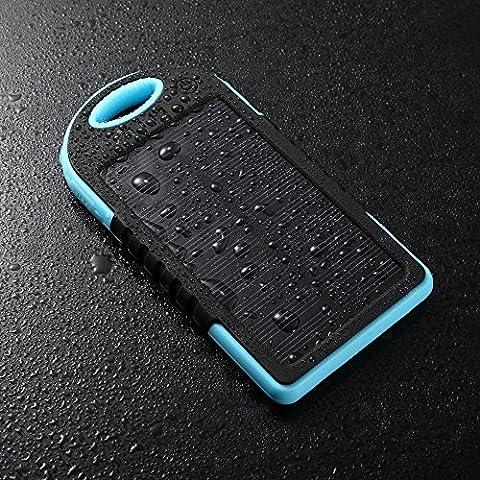 SUNYOUNGER ™ 5000mAh portátil resistente al agua a prueba de polvo a prueba de golpes iphone5s/ipad4Cargador Solar Amarillo Color